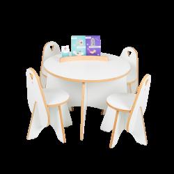 Apollo tafel wit met bijpassende stoelen